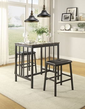 3 PC Edgar counter height set