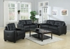 3 PC Living Room Jasmine Leather Sofa, Loveseat & chair