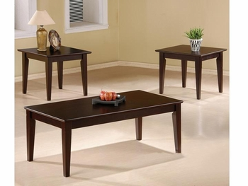 3 PC Occasional Table Set with Tapered Legs Furniture Stores