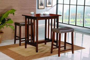 3PC Set Dinnette Table, 2 Stool Furniture Stores