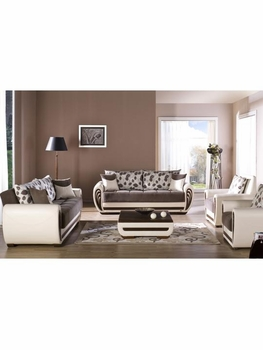 3 PC Set Marina Armoni Brown Living Room Furniture