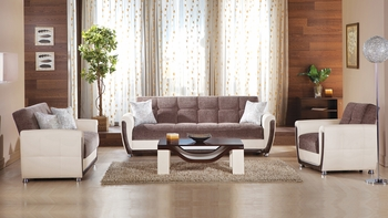 3 PCS Vella Living Room Collection Sofa, Loveseat and Armchair