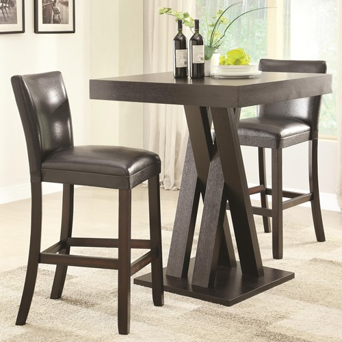 Merveilleux 3PC Bar Height Table And Stools Set
