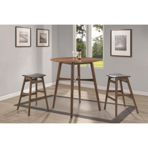 Modern 3PC Bar Dining Table 2 Stools Manassas VA Furniture Stores