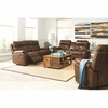 3PC Damiano Casual Faux Leather Reclining Sofa, loveseat and chair with Button Tuft Detailing