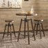 3PC Hornell Rustic Adjustable Table and Chair Set by Scott Living