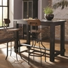 3PC Jacinto Industrial Table and Chair Set