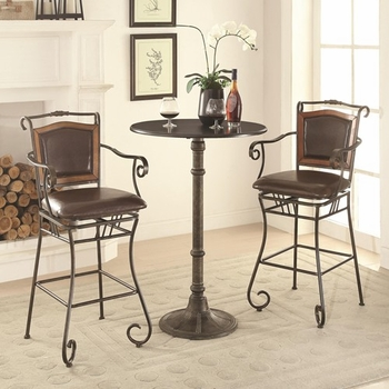3PC Oswego Pub Table Set with Bar Stools