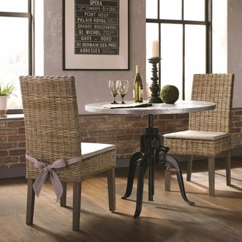 3PC Rhea Industrial Adjustable Table and Chair Set by Scott Living