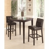 3PC Square Pub Table with Two Bar Stools