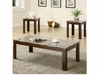 3PCS Marble Top coffee table and End Table Set 700395