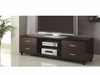 4-Drawer TV Console Glossy Black And Walnut # 700826