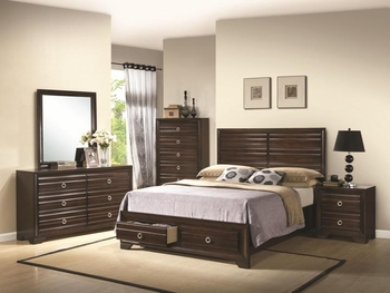 4 PC Bryce Queen Bed Set
