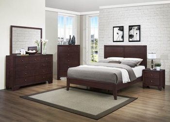 4 PC Kari Queen bed, Nightstand, Dresser and Mirror