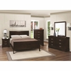 4 PC Louis Philippe 202 Sleigh Bedroom set