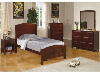 4 PC Parker Casual Twin Panel Bed