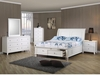 4 PC Sandy Beach Full Sleigh Bedroom set with Footboard Storage