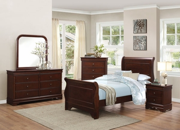 4PC Abbeville twin size bedroom set