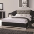 4PC Alessandro Queen Low Profile Bed with Upholstered Panel Bedroom Set