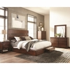 4PC Artesia Queen Platform Bed with Storage Footboard Set
