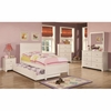 4PC Ashton Collection Twin Bed with Framing Details with Trundle bedroom set