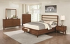 4PC Banning Upholstered Panel Queen Bed with 2 Footboard Drawers Bedroom Set