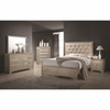 4PC Beaumont Upholstered Queen Bed with Button Tufting Bedroom Set