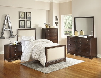 4PC Bernal Twin size bedroom set