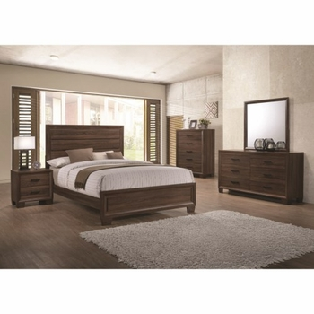 4PC Brandon Transitionally Styled Queen Panel Bed