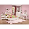 4PC Caroline Twin Size 400891 Storage Bed with Diamond Tufted Headboard Bedroom Set
