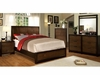 3PC Corsica Queen bedroom set / Queen Bed/ Dresser and Mirror