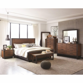 4PC Ellison Industrial Queen Platform Bed Set