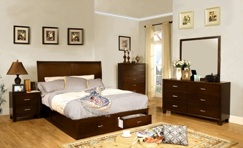4PC Enrico V queen bedroom set