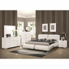 4PC Felicity 300345 Platform Bedroom with Metallic Accents
