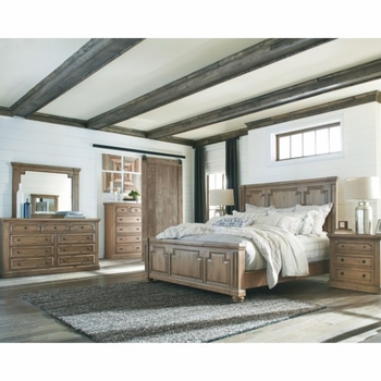 4PC Florence Panel Queen Bed with Column Design by Donny Osmond Home