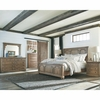 4PC Florence Panel Queen Bed with Column Design