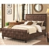 4PC Gallagher Upholstered Queen Bed with Basket Weave Design Bedroom Set