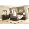 4PC Jaxson Queen Bed with Upholstered Headboard and Storage Footboard Ser