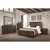 4PC Lawndale Rustic Queen Size Storage Bedroom Set