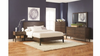 4PC Lompoc Mid-Century Queen Platform Bedroom Set
