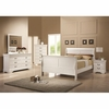 4PC Louis Philippe White Finish Sleigh Style Bedroom