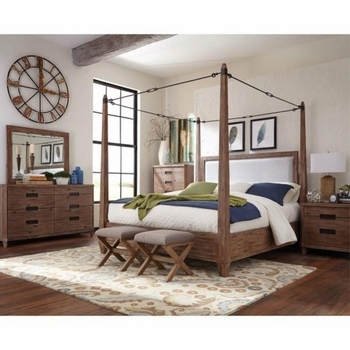 4PC Madeleine Queen Canopy Bedroom Set by Donny Osmond Home