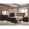 4PC Madison Queen Bed with Upholstered Headboard bedroom set