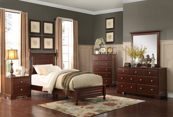 4PC Morelle Twin size bedroom set