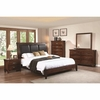 4PC Noble Queen Panel Bed with Upholstered Headboard Bedroom Set