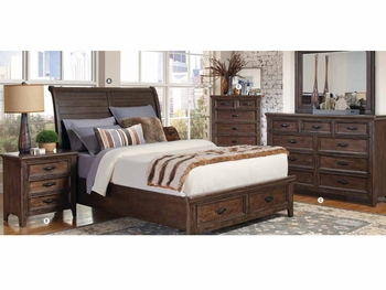 4PC Queen size bedroom set # 205250