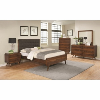 4PC Robyn Queen Bed with Tufted Upholstered Bedroom Set