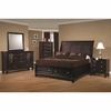 4PC Sandy Beach Queen Sleigh Bedroom