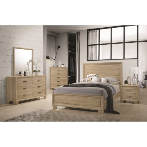 On sale 4PC queen bed Nightstand dresser mirror 206351Q bedroom MD ...