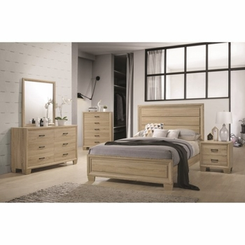 4PC Vernon Queen Transitional Style Bedroom Set